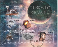 6265 Mozambico 2012 Mars Research Curiosity Marte Rover CTO Mocambique - FDC & Commemoratives