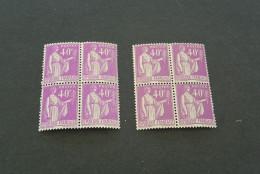 FR660 - Bloc De 4  -2diif. Colors -  MNH  France 1932 -SC. 265 - YV.281 - Peace -paix - 40C Violet - 1932-39 Paix