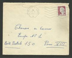 "Flamme Secap "" LE CROISIC A NANTES "" / Marianne Decaris 1960 - Railway Post"