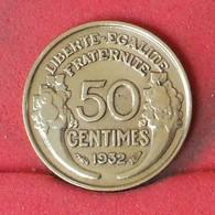 FRANCE 50 CENTIMES 1932 -    KM# 894,1 - (Nº23011) - France