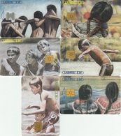 Mexico Phonecard LADATEL TELMEX  CHILDREN PLAY  PAINTINGS Set Of 6 Cards No Credit Used - Mexico