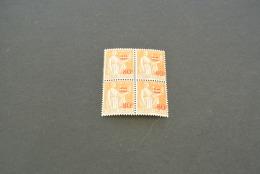 FR676- Bloc De 4 - Overprinted Value  MNH  France 1937 -SC. 333- YV. 359 - 80c Sur 1fr. Orange - Paic -peace - 1932-39 Paix