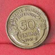 FRANCE 50 CENTIMES 1941 -    KM# 894,1 - (Nº23012) - France