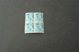 FR798-bloc De 4  MNH  France  1944  - SC. 502 - YV.660 - Overprinted Rf - Mercury - Mercure  - 50c Grnsh Blue - 1938-42 Mercure