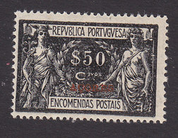 Azores, Scott #Q7, Mint Hinged, Parcel Post Overprinted, Issued 1921 - Açores