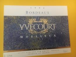 8341 - Bordeaux Moelleux 1992 Yvecourt - Bordeaux