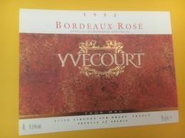8342 - Bordeaux Rosé 1992 Yvecourt - Bordeaux