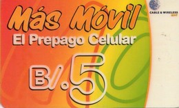 TARJETA TELEFONICA DE PANAMA (PREPAGO). PAN-C&W-204D (010) - Panamá