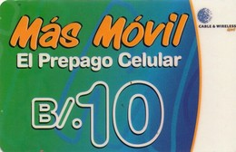 TARJETA TELEFONICA DE PANAMA (PREPAGO). PAN-C&W-205B (011) - Panamá
