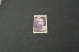 FR836 -  Timbre MNH  France  1945 - SC. 554- YV. 731- Marianne - 25F Violet - 1945-54 Marianne De Gandon