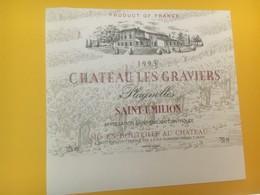 8344 - Château Les Graviers 1993 Plagnolles Saint-Emilion - Bordeaux