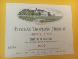 8345 - Château Troplong Mondot  1993 Saint-Emilion - Bordeaux