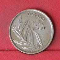 BELGIUM 20 FRANC 1982 -    KM# 160 - (Nº23021) - 07. 20 Francs