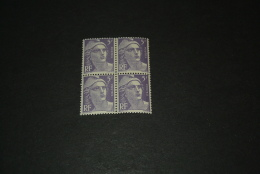 FR885-bloc De 4 MNH  France  1951 - SC. 650 -   5fr. Violet     - Marianne - 1945-54 Marianne Of Gandon