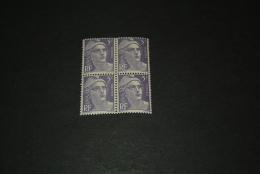 FR885-bloc De 4 MNH  France  1951 - SC. 650 -   5fr. Violet     - Marianne - 1945-54 Marianne De Gandon