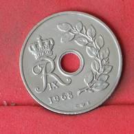 DENMARK 25 ORE 1968 -    KM# 855,1 - (Nº23025) - Denmark