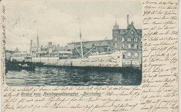 """1901   Anvers  """" Gruss Von Reichspostdampfer - Reichstag   """" - Antwerpen"""