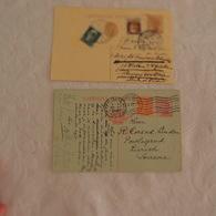 Entier Postal Lot De 2 ITALIE  Adressés à Cort Van Der Linden Ministre Hollandais - Italien