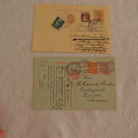 Entier Postal Lot De 2 ITALIE  Adressés à Cort Van Der Linden Ministre Hollandais - Italia