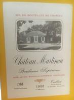 8352 -  Château Martinon 1981 150cl - Bordeaux
