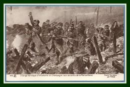 CPA Illust. Thiriat Charge Héroïque D'infanterie En Champagne Aux Accents De La Marseillaise Non écrite TB (pas Si Com.) - Guerra 1914-18