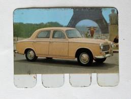 Plaque Métal Voiture Peugeot 403 L'auto à Travers Les âges COOP 1964 - Automobile