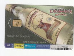 Mexico Phonecard LADATEL TELMEX TEQUILA CAZADORES Reposado Transparent Card No Credit Used - Mexico