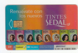 Mexico Phonecard LADATEL TELMEX SEDAL Dyeing Hair Care Products Transparent Card No Credit Used - Mexico