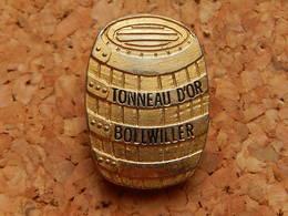Pin's - TONNEAU D'OR - BOLLWILLER HAUT RHIN - Beverages