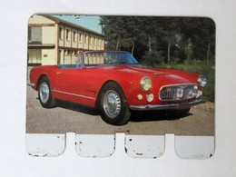 Plaque Métal Voiture Maserati 3500 L'auto à Travers Les âges COOP 1964 - Automobile