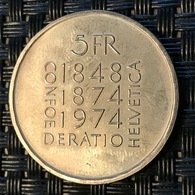 "Switzerland 5 Francs 1974 ""Constitution"" - Switzerland"