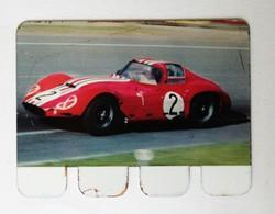 Plaque Métal Voiture Maserati Le Mans 1963 L'auto à Travers Les âges COOP 1964 - Automobile