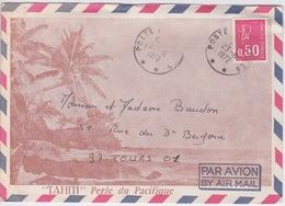 1972- POLYNESIE - ENVELOPPE Par AVION De TAHITI POSTE AUX ARMÉES AVEC TIMBRE Pour TOURS 37 - Tahiti