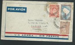 """LSC   Par Avion """" Air France """" De Bueno Aires """" Afranchie Par Timbres Argentin Pour Paris - Ax14012 - Argentina"""