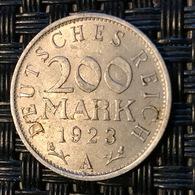DEUTSCHES REICH 200 MARK 1923 A - [ 3] 1918-1933 : Weimar Republic