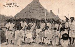 SOMALI-DORF-VENEDIG IN WIEN-NON VIAGGIATA - Somalia