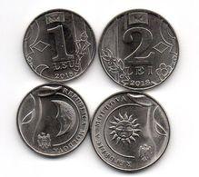 Moldova - Set 2 Coins 1 + 2 Lei 2018 UNC Ukr-OP - Moldova