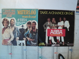 LOT DE DEUX 45 TOURS ABBA. 1974 / 1977. VOGUE 45 X 3075 / MELBA 140357 WATERLOO 1° GRAND PRIX EUROVISION 1974 - Disco, Pop