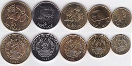 Mozambique - Set 5 Coins 1 5 10 20 50 Meticais 1994 AUNC Ukr-OP - Mozambique