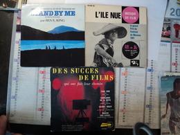 LOT DE TROIS 45 TOURS BANDES ORIGINALES DE FILMS. 1961 / 1986 STAND BY ME / YAKETY YAK / L ILE NUE GRAND PRIX DU FESTIV - Musique De Films