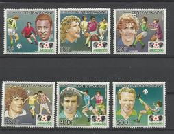Foot Ball Soccer** MNH Mexico 86 Centrafrique 702/05 + A330/31   Coupe  Du Monde 1986 - World Cup