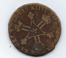 Pièce De Monnaie Louis XIV 6 Deniers Montpellier Dit Dardenne 1710 - 987-1789 Royal