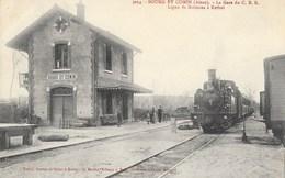 BOURG-ET-COMMIN ( 02-Aisne )   Gare Du C.B.R  ( Ligne Soissons-Rethel ) - Autres Communes