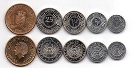 Netherlands Antilles - Set 5 Coins 1 5 10 25 Cents 1 Gulden 2005 - 2010 UNC Ukr-OP - Netherland Antilles
