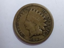 1863 Indian Head Cent - Federal Issues