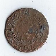 Pièce De Monnaie Henriette De Lorraine 1633 Double Tournois - 987-1789 Royal