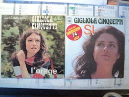 PAIRE DE 45 TOURS GIGLIOLA CINQUETTI. 1969 / 1974. FESTIVAL SPX 39 / CBS 2247 L ORAGE FESTIVAL DE SAN REMO 1969 - Autres - Musique Française