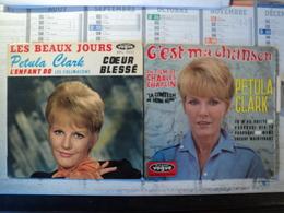 PAIRE DE 45 TOURS 4 TITRES PETULA CLARK. 1962 / 1967.  VOGUE EPL 835 / 8 508 LES BEAUX JOURS / COEUR BLESSE / L ENFANT - Autres - Musique Française