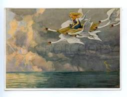 167932 Andersen Wild Swans Flight By Paul HEY Old Tobacco Card - Posters