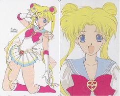 Télécarte Japon DOUBLE FACE - MANGA - SAILORMOON ** ONE PUNCH ** - ANIME Japan Phonecard - 10192 - Comics